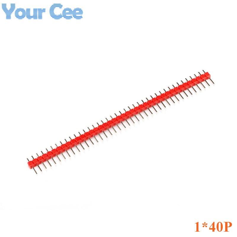 10pcs Single Row Pin Male 1X40P 1*40P Needles Spacing 2.54mm Black White Red Yellow Blue Green Header Strip