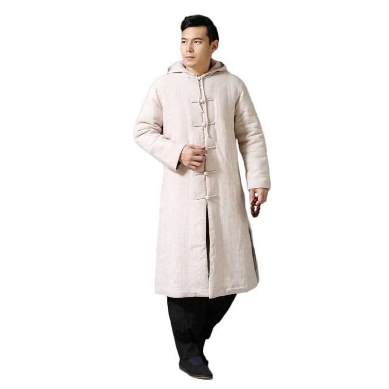 Крутой этнический тренд, модная ветровка, плащ, зимняя куртка, длинное пальто Тренч, мужское пальто, большой размер, 6 цветов - 5