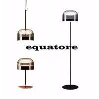Equatorial série galvanoplastia vidro semicircular minimalista Nordic criativo abajur decorativo LEVOU chip de iluminação luminária de chão