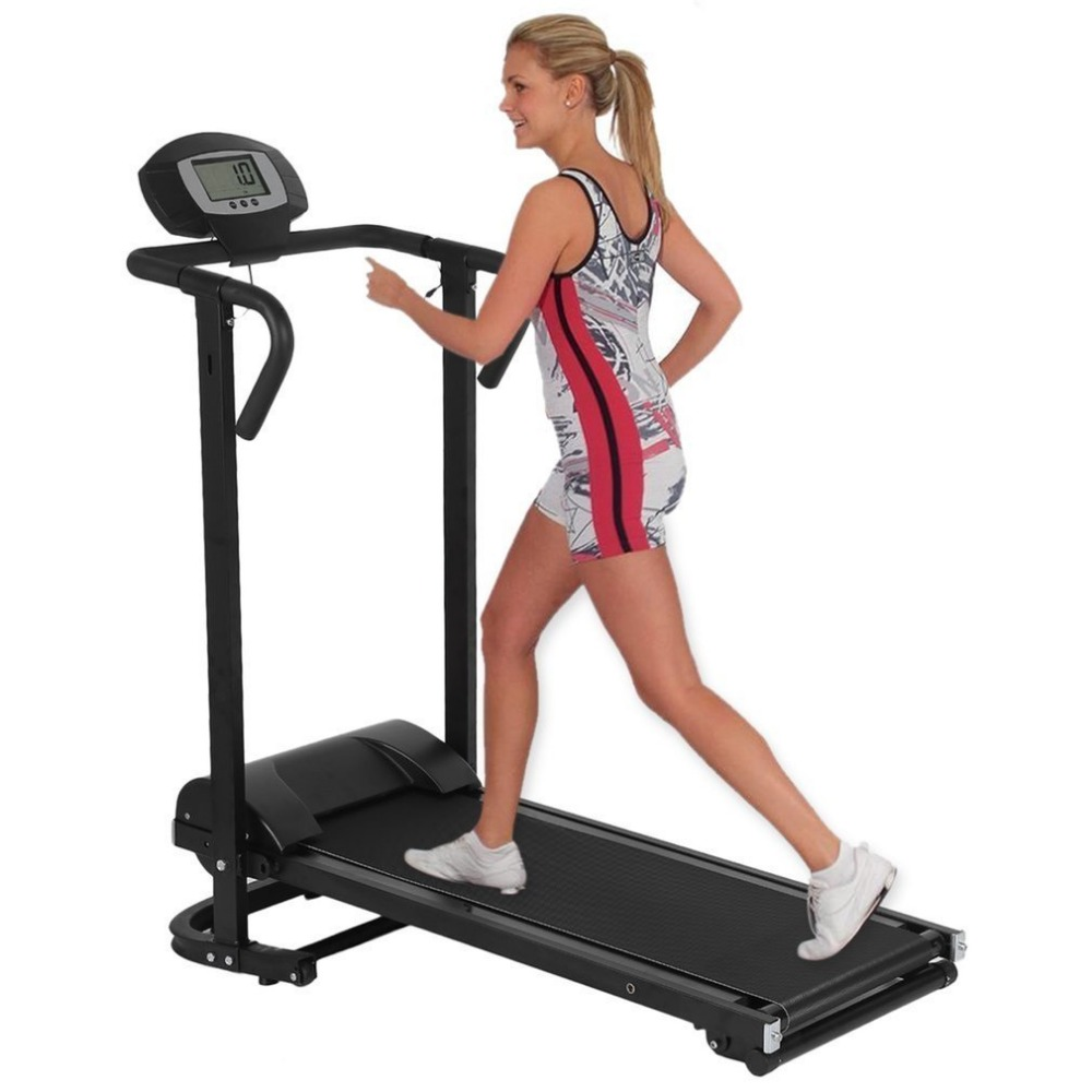 Ménage Mécanique Tapis Roulant Avec LCD Affichage Faible Bruit Machine de Marche Pliable Home Trainer Fitness Equipment livraison gratuite