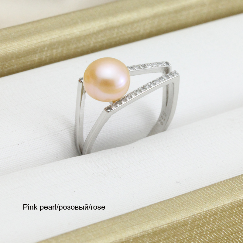 100% pravi slatkovodni crni prirodni biserni prsten za žene, - Fine nakit - Foto 5