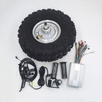 14.5 Electric Wheelbarrow Gear Motor 24V 36V 48V 250W 350W 500W All Terrain Electric Wheelbarrow kit Fat Off road Rough Tyre