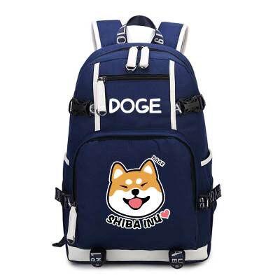 Doge Shiba Inu sac à dos Cosplay mode toile sac cartable sacs de voyage