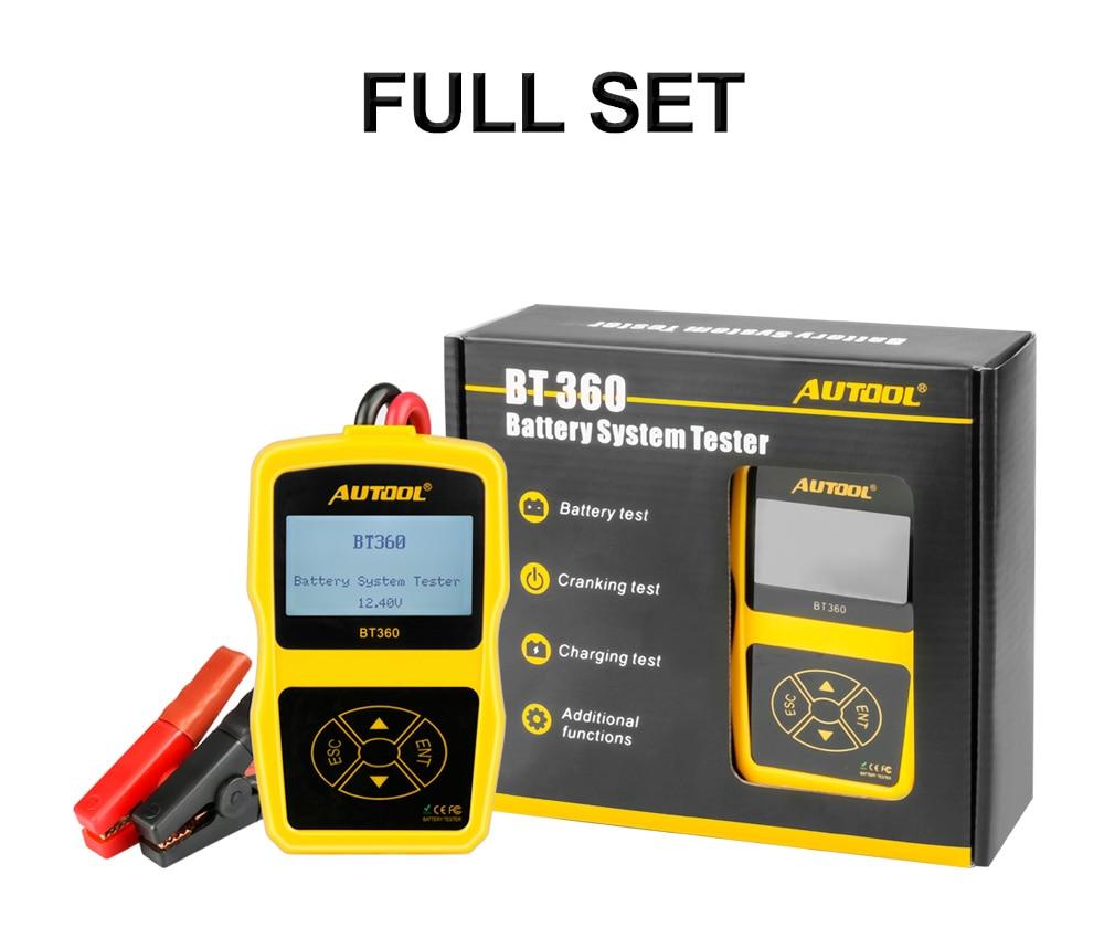 Image 5 - מקורי Autool BT360 אוטומטי סוללה בודק 12 v רכב סוללה מנתח 2000CCA 220AH רב שפה רע סלולרי מבחן רכב כליםcar toolsautomotive battery analyzertester 12v -