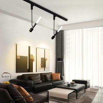 Les Projecteurs De Rail De Tache D'éclairage De Rail De Plafond En Aluminium De Lumière De Voie De Dimmable 15W LED Remplacent Des Lampes D'halogène