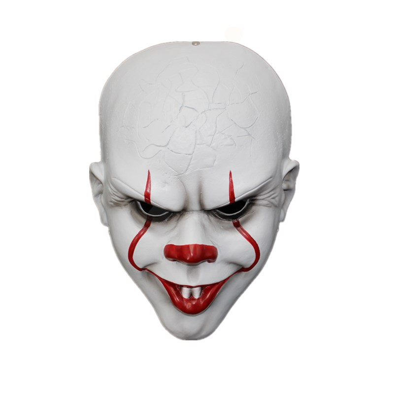Hot New Movie Stephen King's It Halloween Joker Mask Cosplay Costumes Props Classics Overstate Terror Mask Adult Party Face Mask