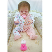 55cm Full Body Silicone Girl Bebe Reborn Doll Kids Toys Lifelike Newborn Girl Babies Doll Birthday Gift Bathe Toy Brinquedos Hot все цены