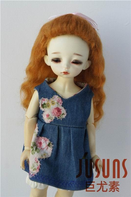 JD327 1/6 мягкий парик для куклы мохеровый прекрасный вверх курчавый BJD кукла волосы Размер 6-7 дюймов модные куклы аксессуары - Цвет: Giner M3
