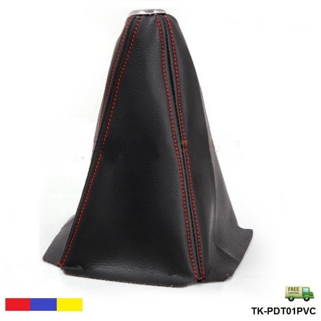 Universal Jdm Gear Shift Shifter Boot Cover Black PVC AT/MT Stitch Red/Blue/Yellow TK-PDT01PVC-FS