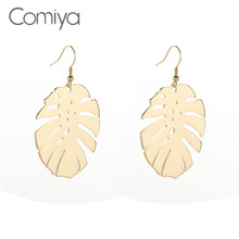 Comiya Brand Zinc Alloy Leaf Earrings For Women Indian Jewelry Boho Vintage Statement Earring Pattern Aretes De Mujer Bijoux