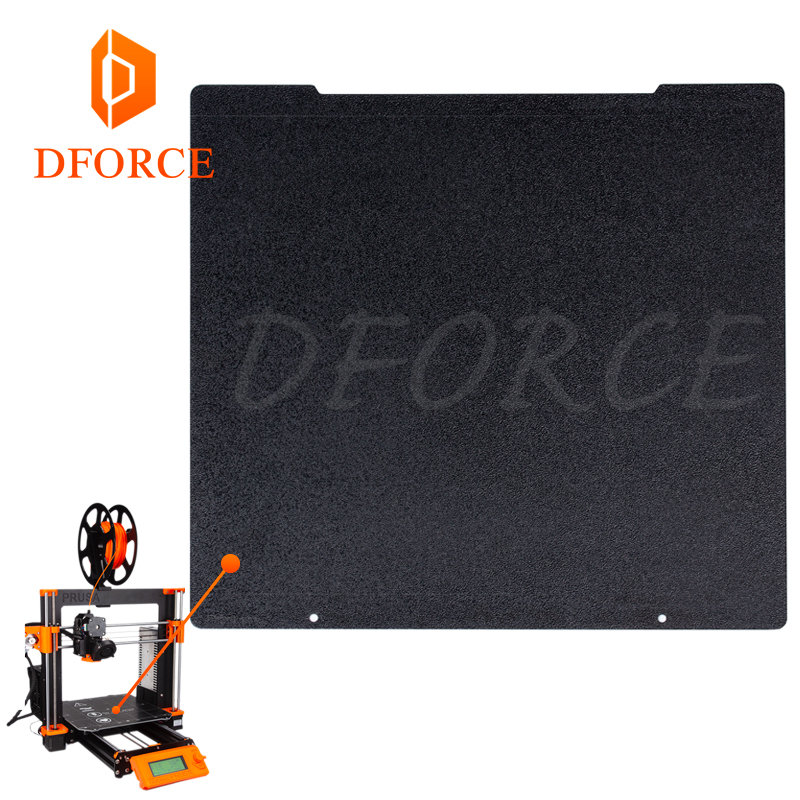 DFORCE 241 x 252 Double sided Textured PEI Spring Steel Sheet Powder Coated PEI Build Plate