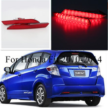 MZORANGE 2pcs For Honda Fit 2010-2014/STEPWGN RG Red Rear Bumper Reflector Lamp Car LED Parking Warning Tail Burner Lights Lamp