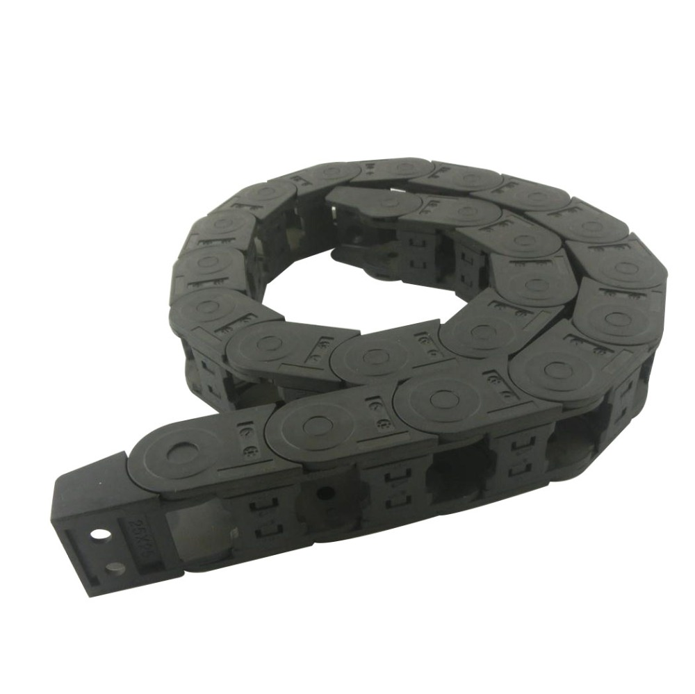 Transmission Chains 25 x 25mm Internal Size 1.05M Length Plastic Reinforced Nylon Towline Cable Drag Chain