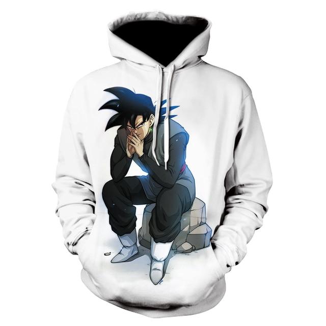 Spring/summer new mens hoodie dragon ball printed hoodie sweatshirt mens long sleeve casual hoodie