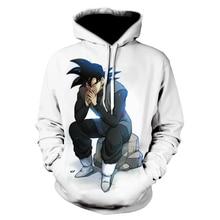 ฤดูใบไม้ผลิ/ฤดูร้อนใหม่ผู้ชาย hoodie dragon ball พิมพ์ hoodie เสื้อกันหนาวผู้ชายแขนยาวสบายๆ hoodie