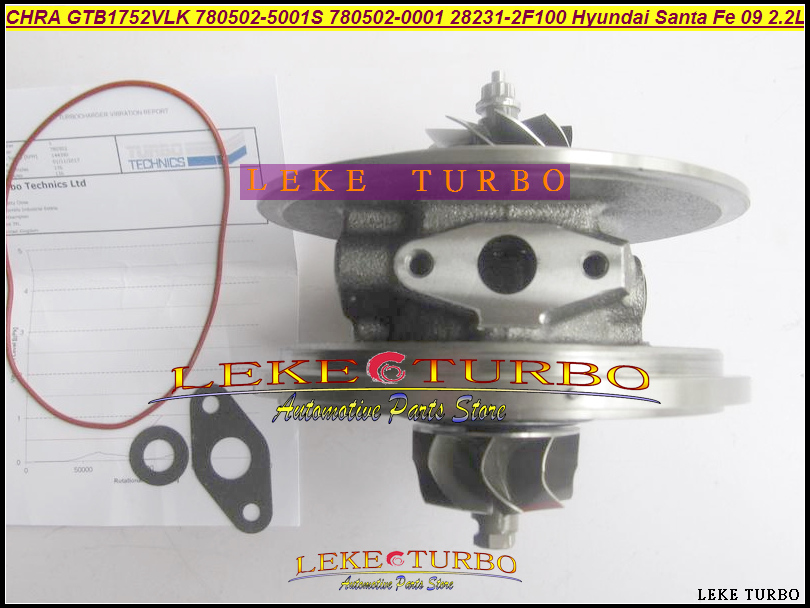 Turbo Cartridge CHRA Core GTB1752VLK 780502 780502-5001S 780502-0001 28231-2F100 282312F100 For Hyundai Santa Fe 2009- R2.2 2.2L gt1749s turbolader 716938 5001s turbo core 716938 turbo 28200 42560 2820042560 turbo chra for hyundai h 1 hyundai starex