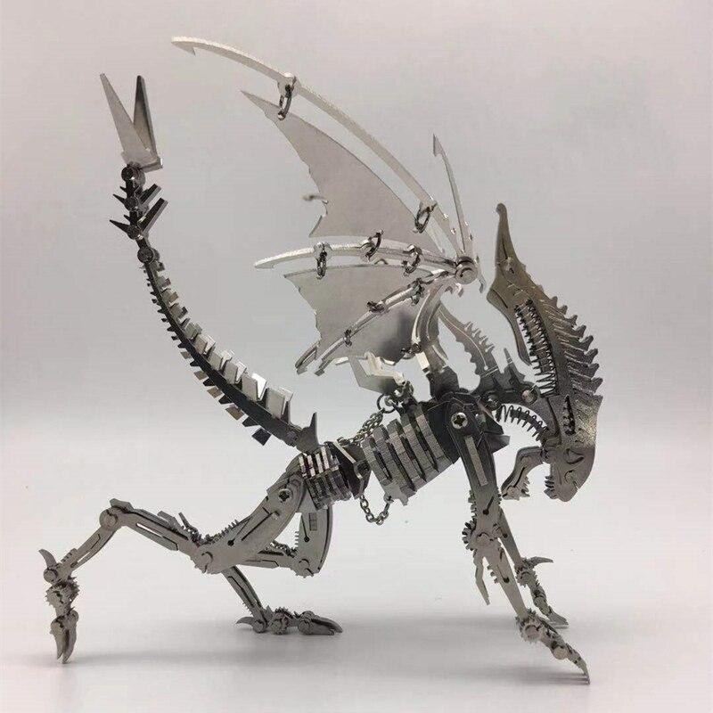 Дрон насекомое 3D стальная металлическая отделка DIY шарнир подвижность набор миниатюрных моделей головоломки игрушки хобби для мальчиков с... - 2