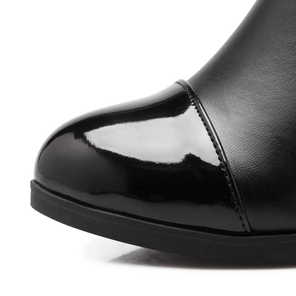 Fourrure Noir Genou Hiver Nouvelle Dentelle À Chaud Femmes Bottes Chaussures De Qzyerai blanc Martin BWderxCQoE