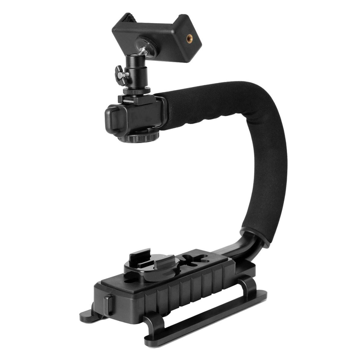 U-rig handheld telefone estabilizando fotografia vídeo rig filme fazendo vlogging gravação caso suporte estabilizador para iphone samsung