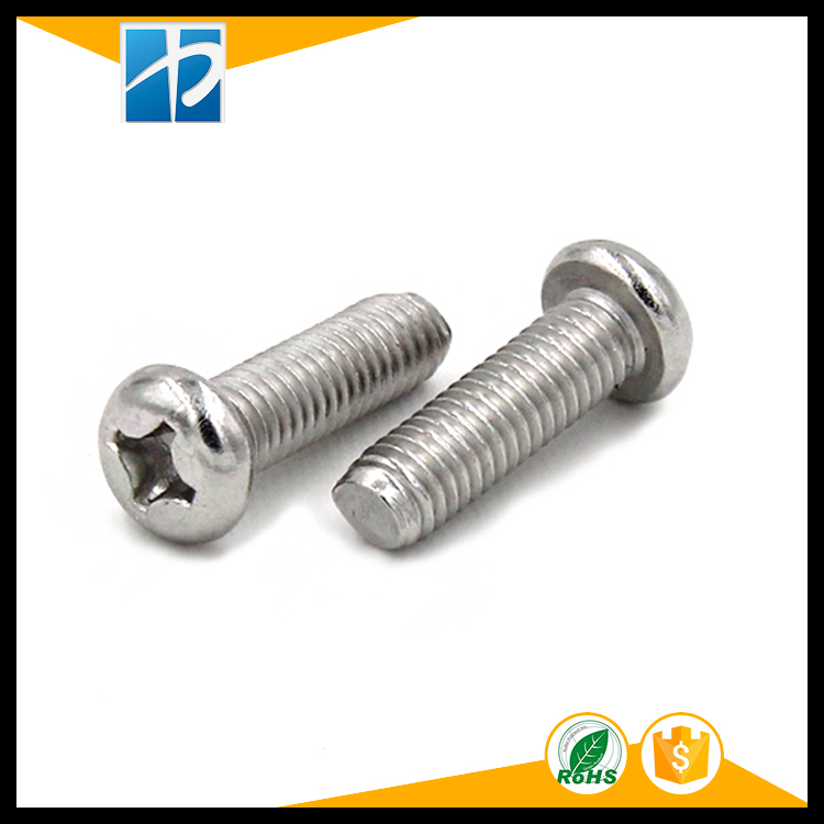 (50 pc/lot) metric thread M1.6,M2,M2.5,M3 *L Stainless Steel Phillips Pan Round Head model Electric machine diy Screw