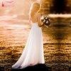 Hiện đại Lãng Mạn Áo Váy Đơn Giản Thanh Lịch Đầy Đủ Lót Váy Bohemia Đầm Vestido De Noiva Cô Dâu Đồ Bầu ZW168