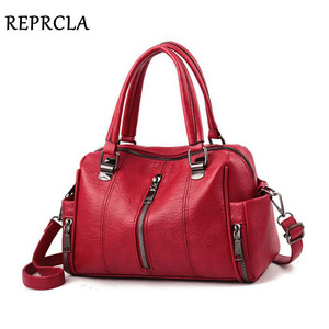 Image 2 - REPRCLA Luxury Women Bag Designer Leather Handbag Fashion Pillow Shoulder Bags Crossbody Female Tote Hand Bags Brand Bolsos