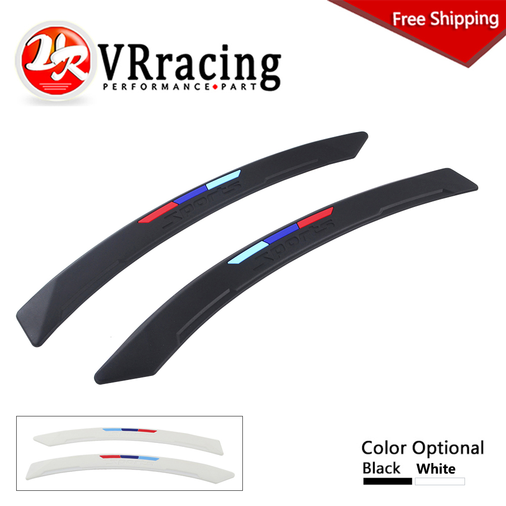 FREE SHIPPING 2 Pcs Car Fender Flares Arch Wheel Eyebrow Protector/mudguards Sticker Universal VR-CFF03 car styling wheel eyebrow decorative wheel arch eyebrow stripe for ford kuga escape 2017 2018 car wheel modling trims