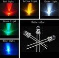 50 pcs X 5 cores = 250 pcs 3mm branco amarelo vermelho azul green Light-emitting diode Luz Super Brilhante Lâmpada Led Lâmpada Nova Rodada