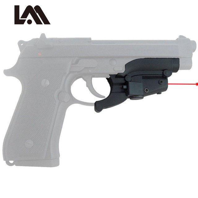 US $18 02 33% OFF|Red Dot Laser Sight Scope Hunting Scope Tactical Airsoft  Air Guns Pistol Sight Laser fit beretta M92 pistol hunting shooting-in