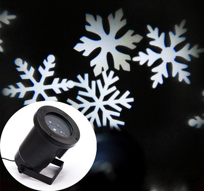 ФОТО Outdoor Waterproof  IP65 Stage Light Christmas Xmas Light Projector Snowflake Projection Lighting For Holiday Party Decoration