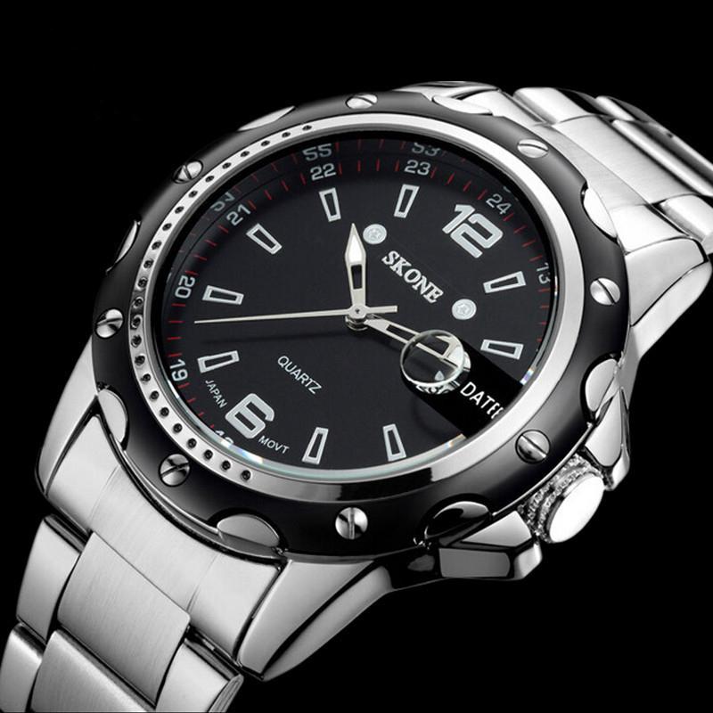 Prix pour Montres hommes marque de luxe D'affaires Montre à quartz sport hommes en acier plein montres de plongée 30 m Casual horloge relogio masculino