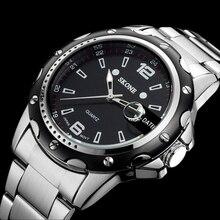 Relojes hombres marca de lujo de Negocios Reloj de cuarzo deporte hombres de acero llena de relojes de pulsera de buceo 30 m reloj Casual relogio masculino