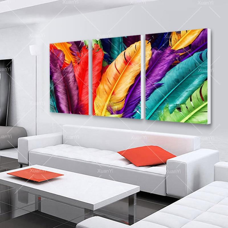 Pluma Bodegón Lienzo Pintura Al Óleo Cuadros Decoración Del Hogar - Decoración del hogar - foto 4