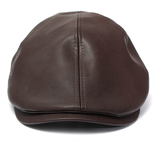 7ee182e0cba 2016 Hot New Men s Women s Faux Leather Peaked Cap Newsboy Bonnet Beret  Cabbie Gatsby Flat Hat 15 smt-in Berets from Apparel Accessories on  Aliexpress.com ...