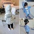 [Bosudhsou.] # k-61 hot & new verão de algodão cardigan meninos meninas cardigan crianças outwear clothing crianças bebê com capuz da camisola