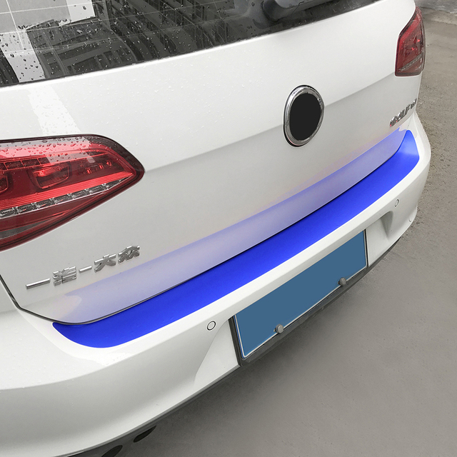 Auto Rear Bumper Trunk Tail Lip Carbon Fiber Protection Stickers Decal Car Styling For Volkswagen VW