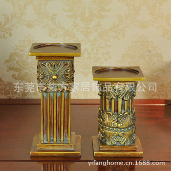 Europe Roman resin candlestick European-style wedding gifts Home Decoration