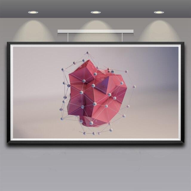 Artwork Cinema 4D Digital CGI Render Art Silk Poster Home Wall Decor ...