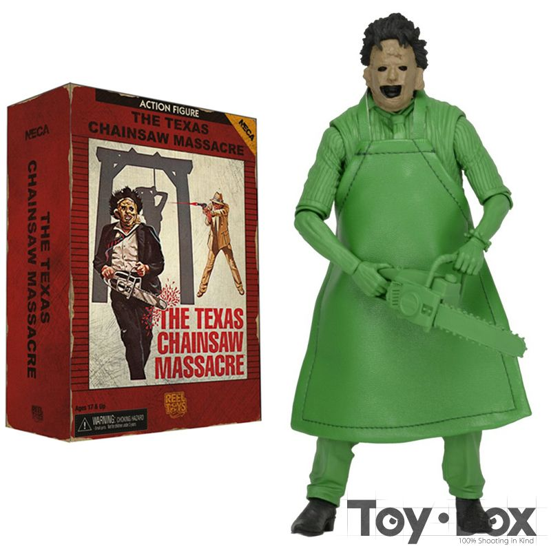 The Texas Chainsaw Massacre Leatherface Green Fuel 18cm Cartoon Toy PVC Action Figure Model Gift
