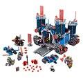 Lepin 14006 nexus caballeros los bloques de construcción del castillo fortrex 1166 unids ladrillos super gran tamaño juguetes para los niños