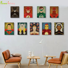 Cartoon Superman Batman Wall Art Canvas Painting Flash Nordic Poster Pictures For Living Room Picture Print Home Decor Unframed(China)