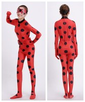 Best Quality In Stock Kid Size Adult Size Miraculous Ladybug Cosplay Costume With Mask Ladybug Red