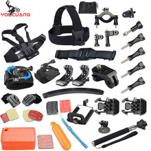 YOOCUANG for Gopro Accessories Set Adaptor Monopod For Gopro hero 5 4 3+ xiaomi yi SJCAM SJ4000 Action Camera Y34