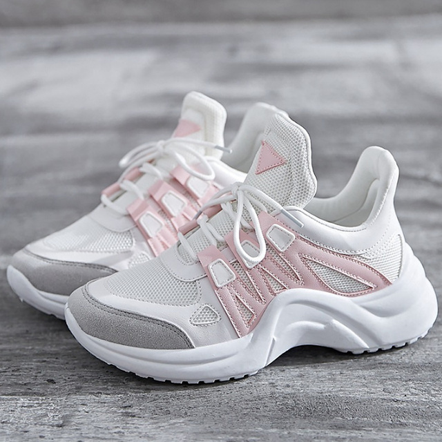 Large size 4.5-10.5 Womens sneakers Breathable Wedge tennis shoes for women  Patchwork Fashion Casual shoes women 70544161b
