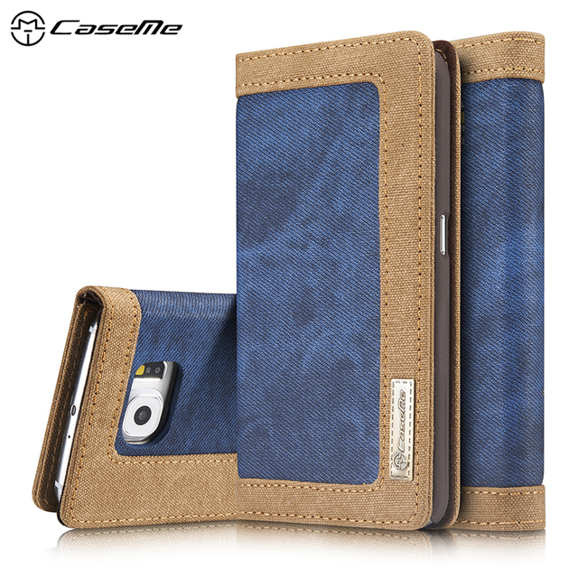 CaseMe Flip PU Leather Covers Cases For Samsung Galaxy S7 G930 G9300 Cellphone Housing SM-G930A SM-G930R4 G930F Shell Card Slot