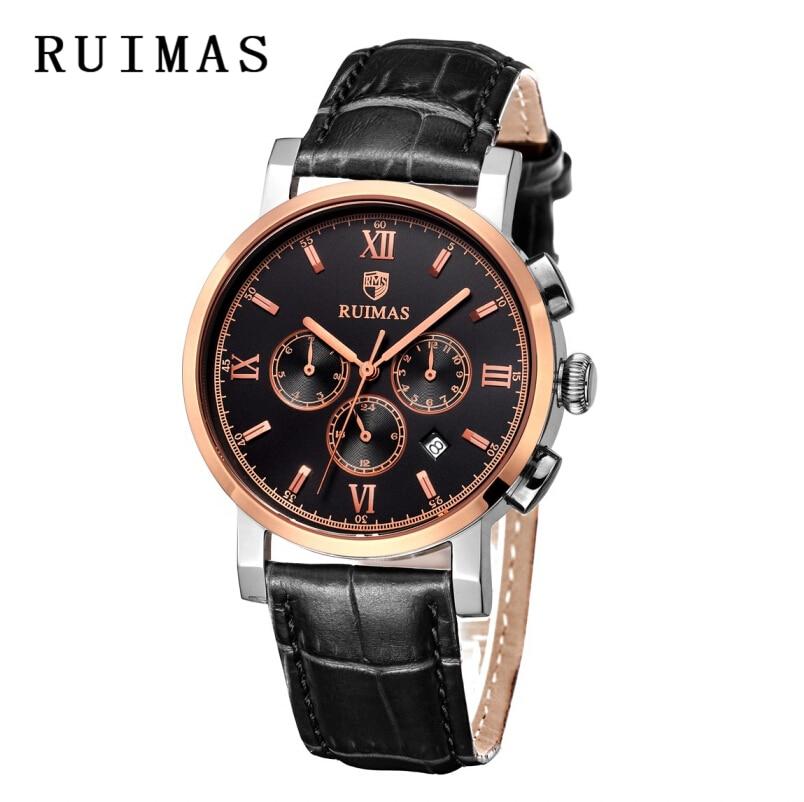 Vestido de lujo RUIMAS Reloj mecánico 2018 Top Brand Rose Gold - Relojes para hombres - foto 3