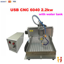 Factory 2200W 3 Axis mini metal cnc milling machine 6040 USB port engraving machine CNC 4060 for stone gold wood with water sink