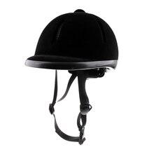 ركوب الخيل خوذة المخملية الفروسية متسابق السلامة رئيس قبعة حماة الجسم معدات ركوب الخيل للأطفال الأطفال 48 54 سنتيمتر