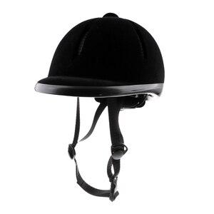 Image 1 - Capacete de veludo equitação cavalo, segurança para piloto, chapéu, protetores de corpo, equipamento para crianças, 48 54cm