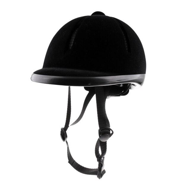 Capacete de veludo equitação cavalo, segurança para piloto, chapéu, protetores de corpo, equipamento para crianças, 48 54cm